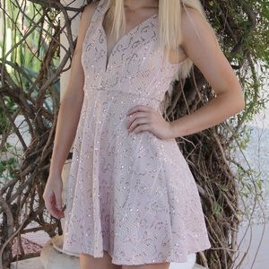 Bailey blue pink sparkly dress